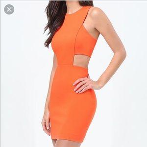 Bebe cutout jersey mini dress L